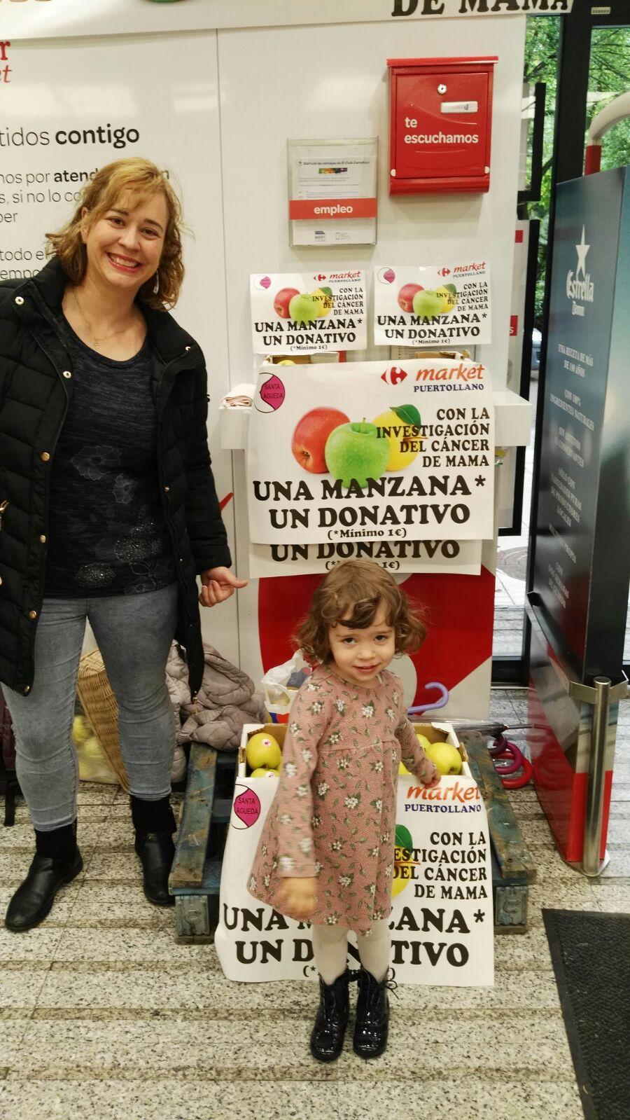 Manzana solidaria con Carrefour