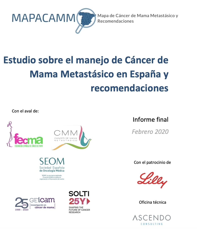 """Estudio sobre el manejo de Cáncer de Mama Metastásico en España y Recomendaciones"""""""